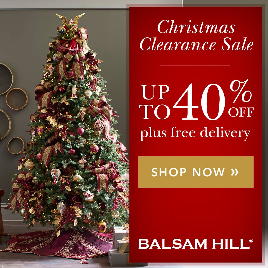 Buy your favourite Balsam Hill Christmas trees and décor and get up to 40% off, plus free shipping! http://bit.ly/2PXcshU __ #christmas #christmastree ...