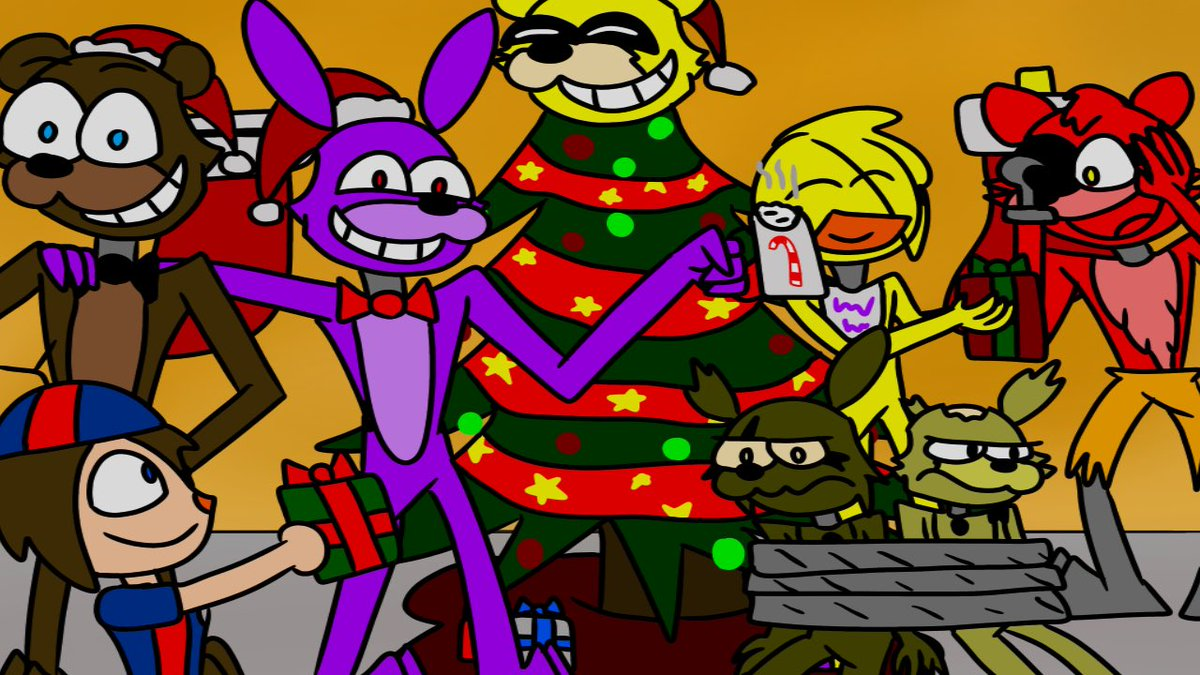 Fnaf Christmas.Magma Ren On Twitter A Merry Fnaf Christmas Five Nights