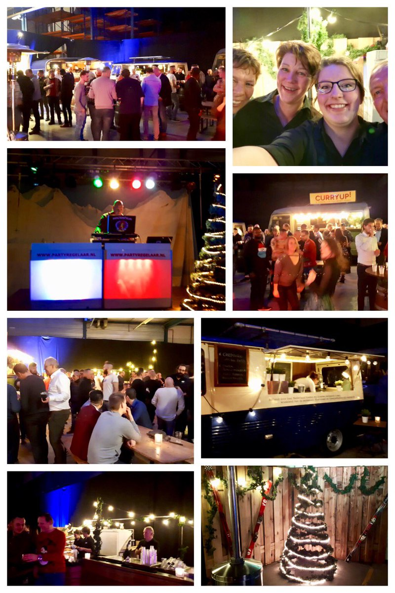 Weer een gaaf geslaagd #kerstfeest voor 150 gasten verzorgd vanavond #catering #verhuur #foodtrucks #entertainment #aankleding #partyregelaar Iedereen blij, voldaan en in de olie!