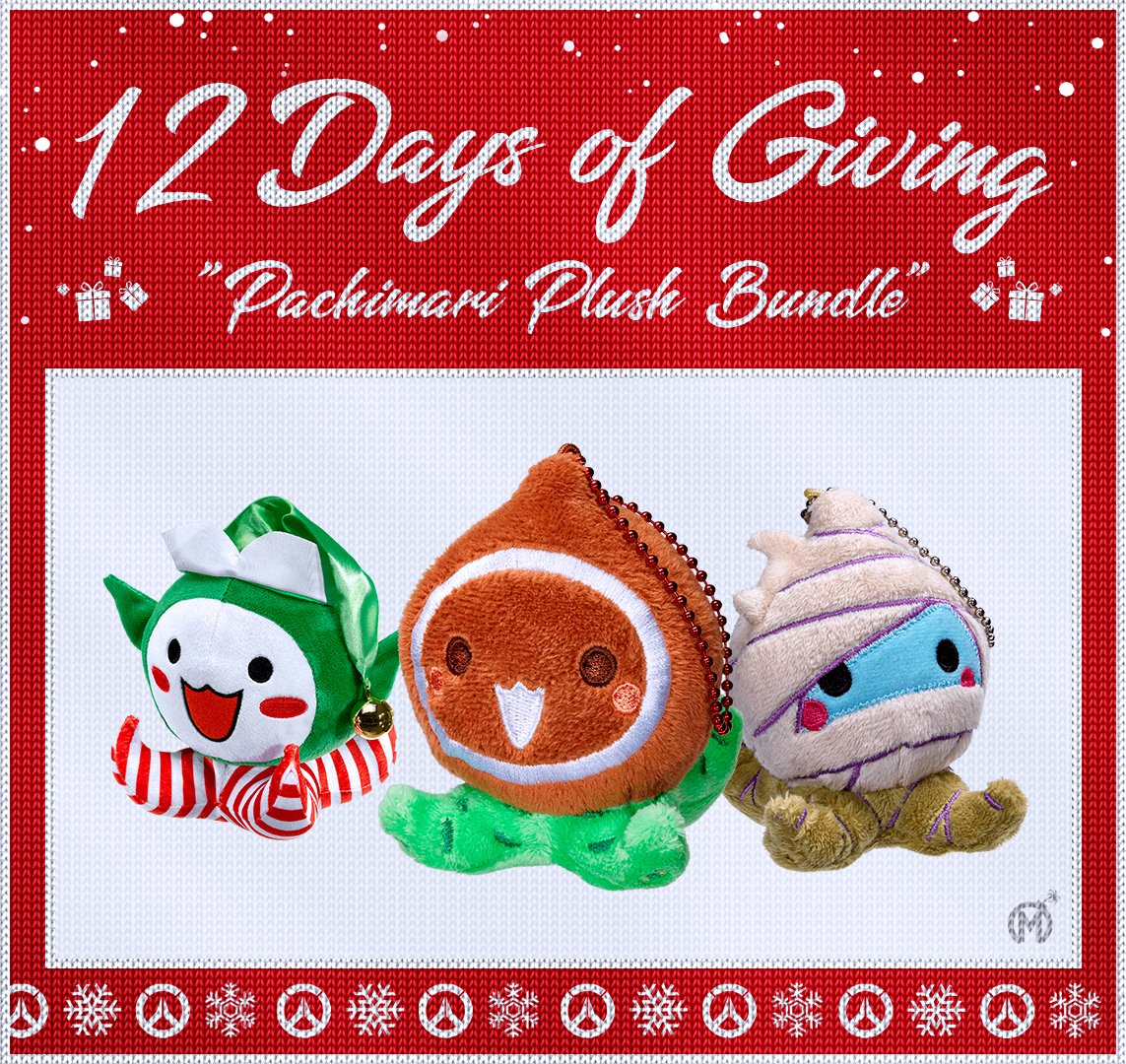 12 Days of Giving! No such thing as too many Pachimaris.  Day 9: The Pachimari plush bundle.  🎁 Retweet  🎁 Follow 🎁 Reply with #Pachimas  Daily winners will be notified via DM at 11:59PM PST. 🎅