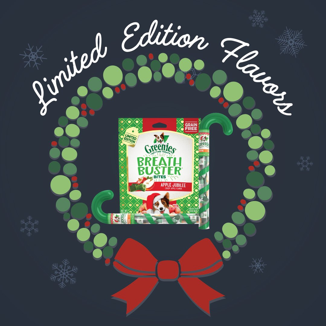🐶 🎁 Did you know that Greenies has limited edition flavors during the Holidays? Stuff their stockings with these festive treats! Shop now at https://t.co/A1pumRMXJA! #greenies #happyholidays #dogtreats https://t.co/uBOgtZb3rE