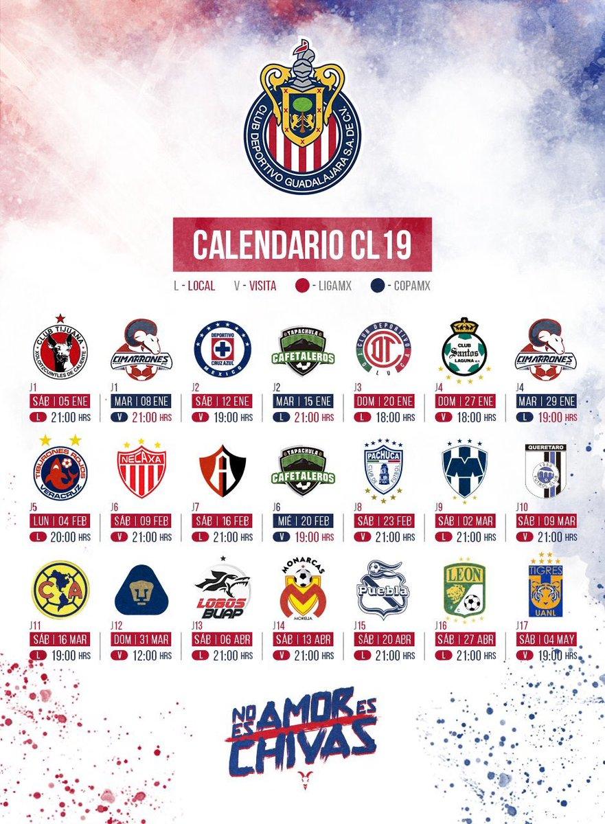 Calendario Uem.Heder Saldana On Twitter Este Es El Calendario De Las Chivas