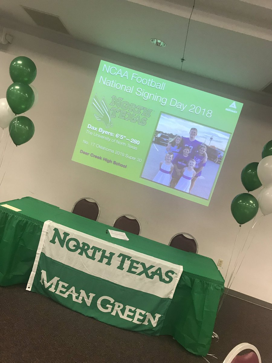 Congratulations to Deer Creek's Daxton @ByersDaxton, signing with The University of North Texas on National Signing Day!