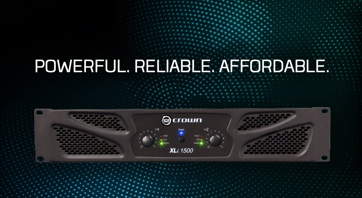 continuing crown's standard of excellence, the xli 1500 two-channel  amplifier offers impressive power