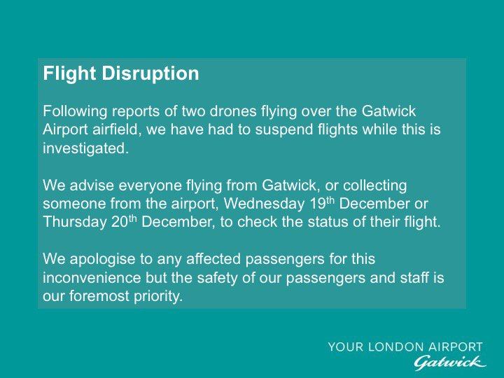 Flights due to take off remained parked on the runway, while others scheduled to land at Gatwick were diverted to other airports, according to some passengers who took to Twitter to express their annoyance over the situation.