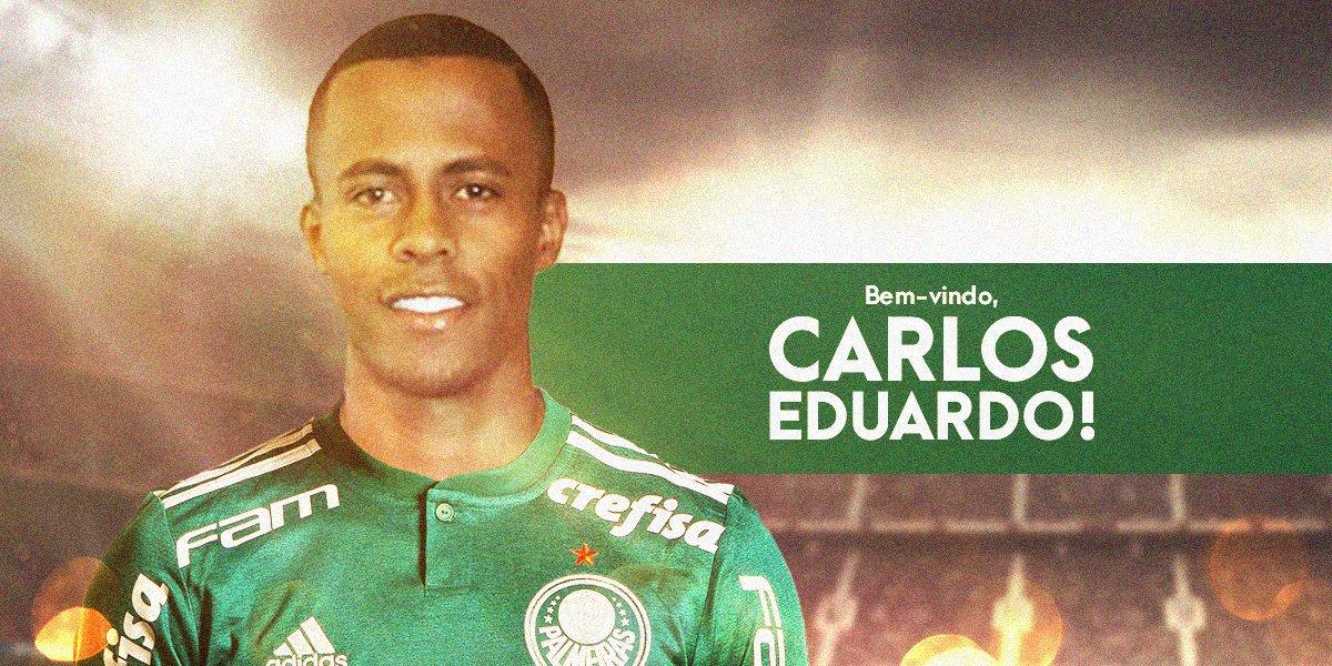 📝É nosso! Atacante Carlos Eduardo assina por 5 anos.  AvantiPalestra 1bb332b1b7d23