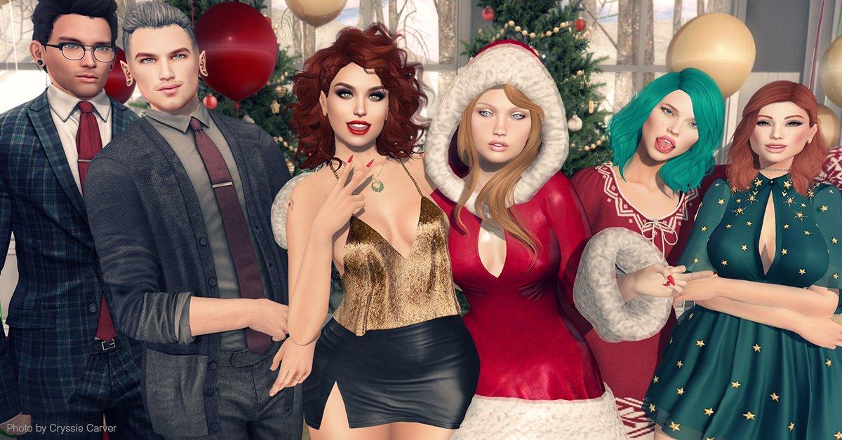 Una imagen de personajes cursis de Second Life