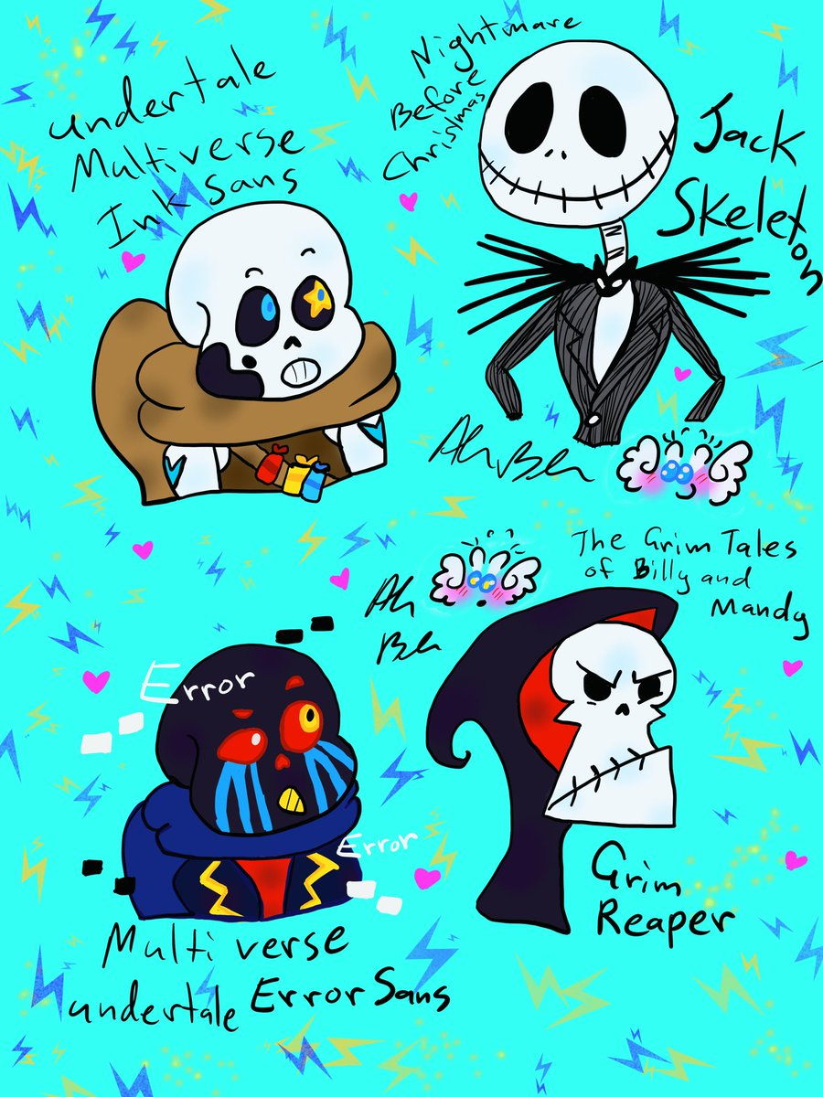 what would happen if like ink sans with to meet Jack skeletons from