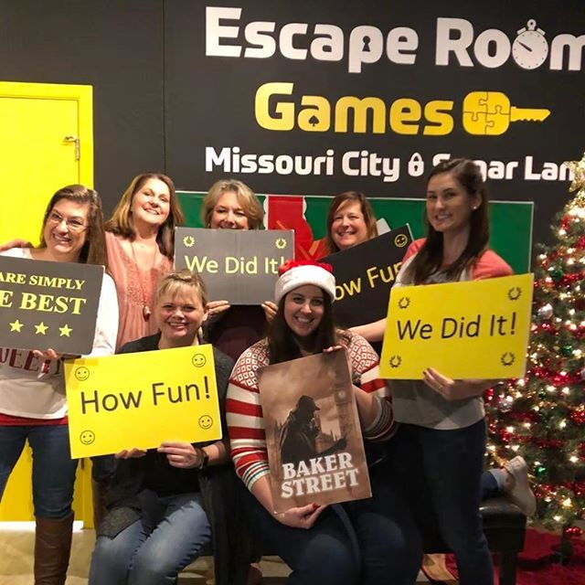 I had so much fun at our Dickinson Christmas party! My team escaped the room with 50 seconds to spare and had a blast doing it! #redG #lunch #basicallydetectives https://ift.tt/2Bu8GHR