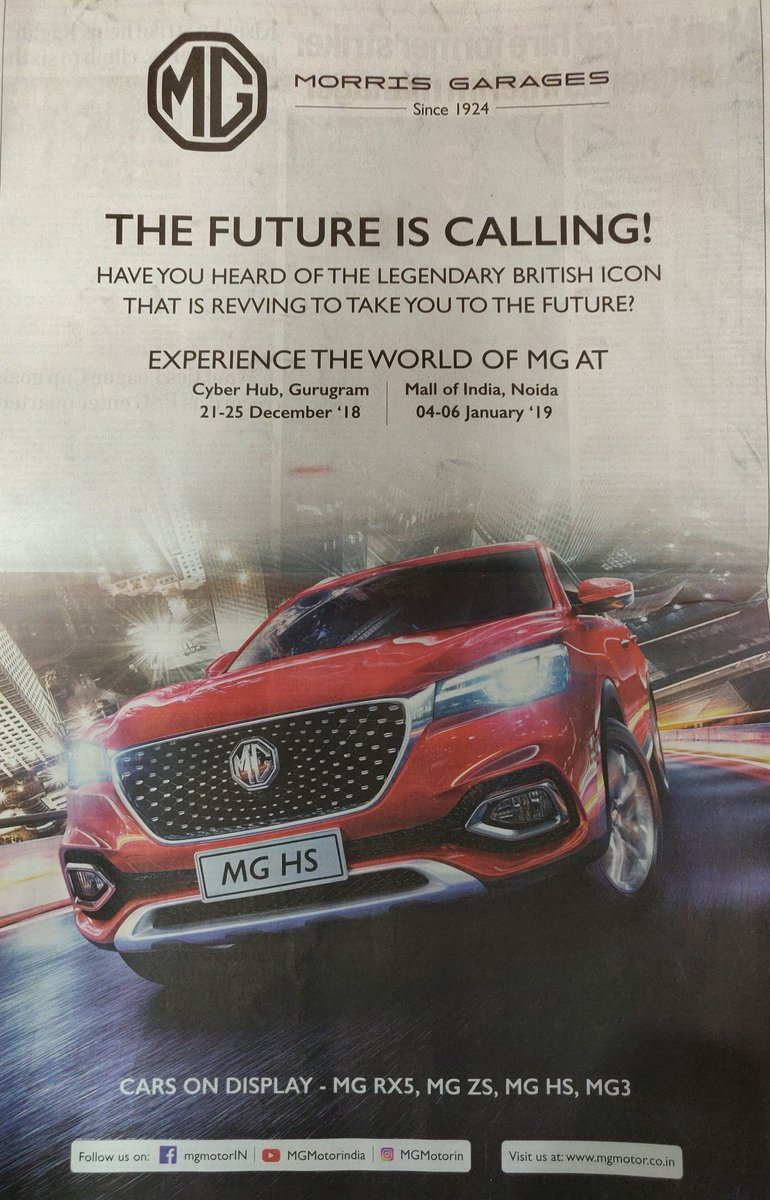 mgmotorindia hashtag on Twitter