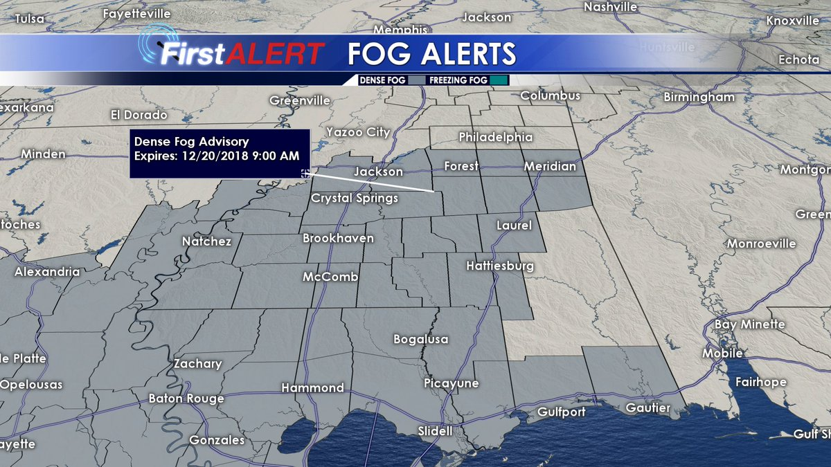 Wcbi Weather On Twitter 10 Pm Wednesday There Is A Dense Fog