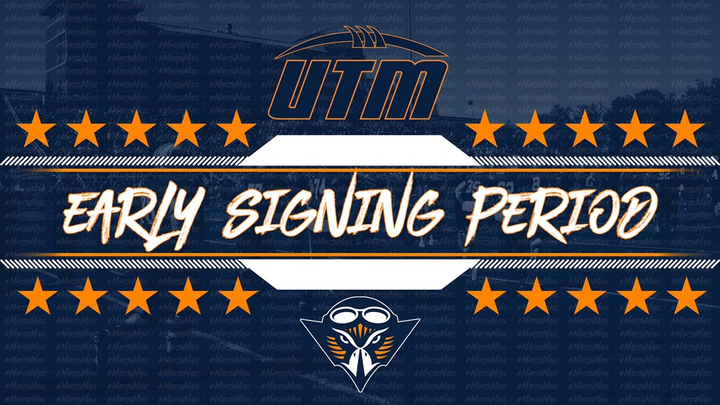 The Skyhawks have done it!! 🔷🔶 @Coach_JSimpson and staff have signed the top recruiting class in the Ohio Valley Conference and #2 In FCS!!!! UTM's class of 23 earns the OVC's No. 1 ranking & No. 2 ranking In FCS, only Behind North Dakota State, according to @HEROSportsFCS