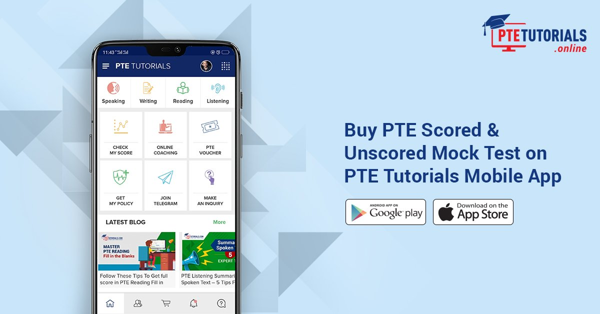 pte mock test free online with score