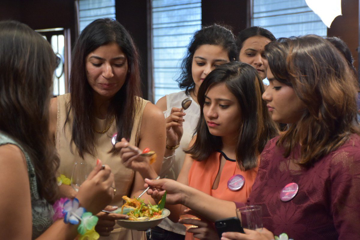 Our community members are seen engrossed in the delicious Som Tam salad. It was tasty and great start to the event. The ladies took to sharing their Thailand experiences after which was, interesting & unique!#holidayiqcommunity #holidayiq #Opentothenewshades @HyattPune @tat_india https://t.co/oFEIOoLD3C