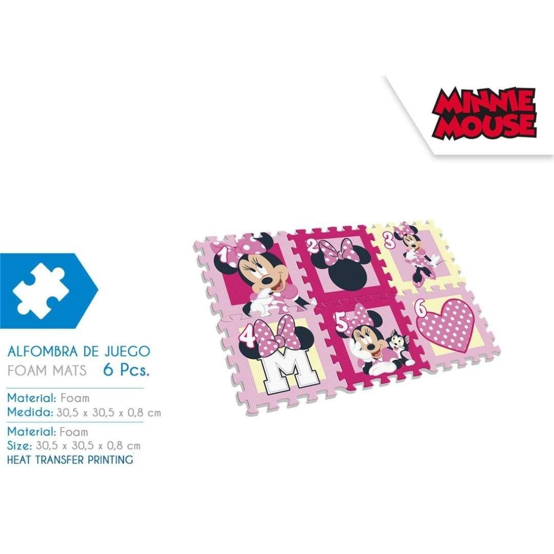 3e5c40c36993d Puzzle piankowe dla dziewczynki Myszka Minnie – 6 szt 🐭😍 Idealne na  prezent dla malucha