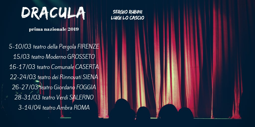 Calendario 2019 Moderno.Luigi Lo Cascio On Twitter Dracula Il Regalo Per Il