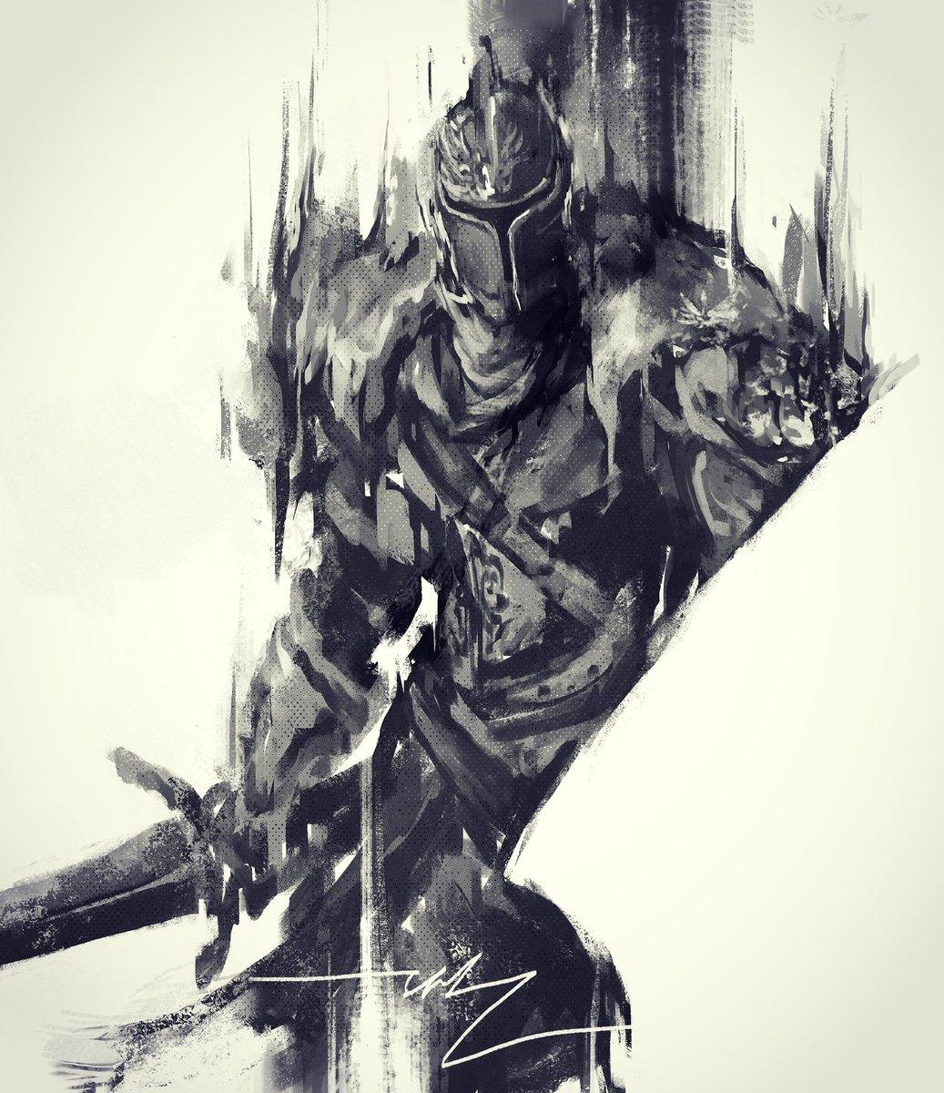 Shimhaq On Twitter Faraam Knight Love Drawing This Guy Faraam Knight Sketch Art Draw Digitalart Darksouls