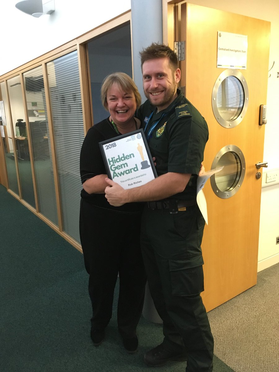 Another worthy recipient of a @EastEnglandAmb #HiddenGem - the fabulous @riches_rob for all his teamwork with the #LearningfromIncidents events @uniofeastanglia #proud #WeAreEEAST
