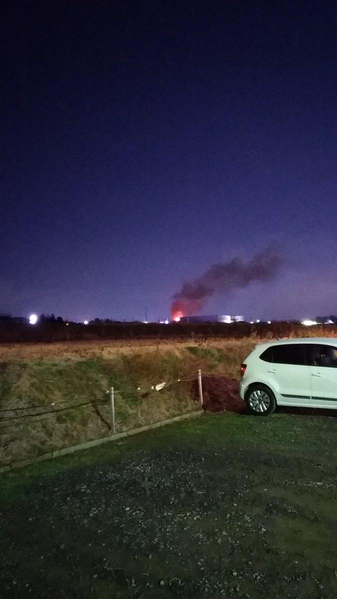 郡山市片平町で火事の現場画像
