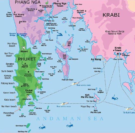 detailed map of krabi thailand - 728×728