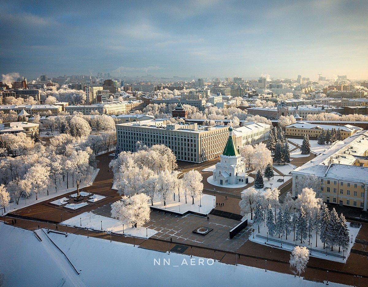 Фото зимнего нижнего новгорода