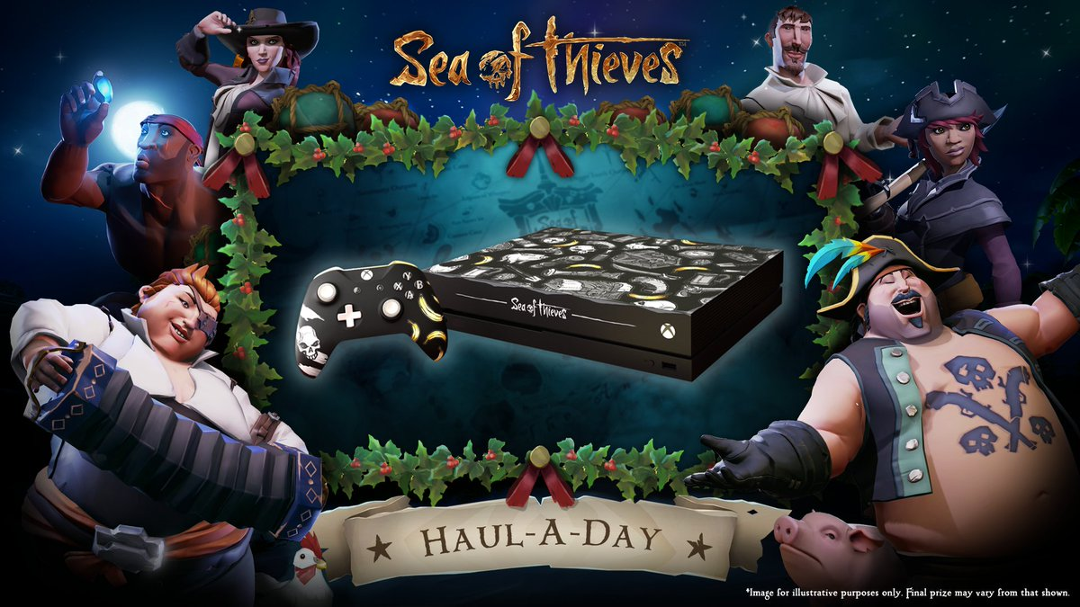 It's the final day of #HaulADay, and we've saved the best 'til last with this one-of-a-kind #SeaOfThieves Xbox One X console and controller! For a last chance to win, all you have to do is RT and follow us. We'll draw our winner tomorrow at 3pm GMT! T&Cs: