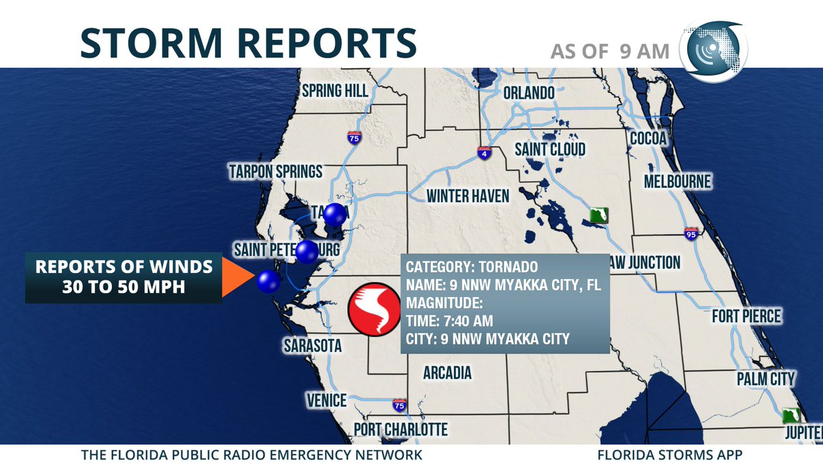 Myakka City Florida Map.Florida Storms On Twitter First Tornado Of The Day Was Reported By