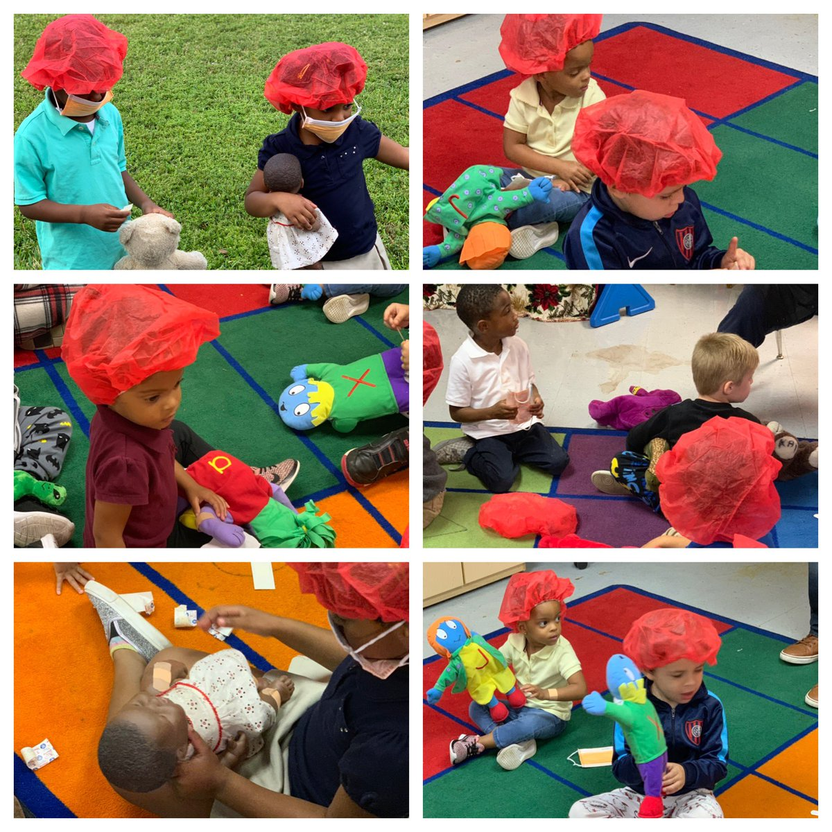 Our Pre-K students learning about being a doctor and a nurse @Annabel_C_Perry