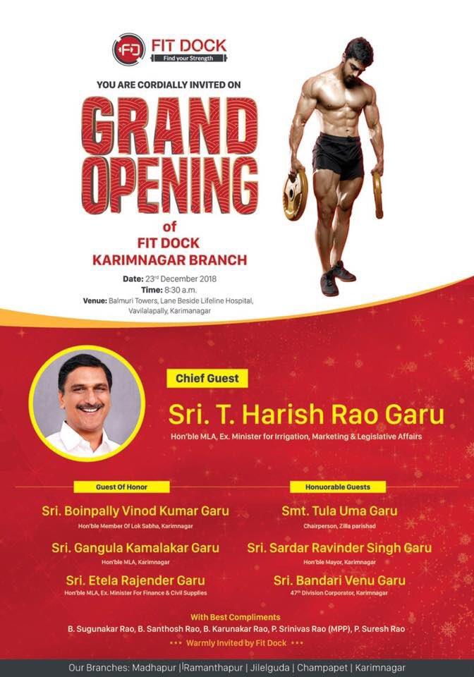Fit Dock  World class gym now in #Karimnagar #Telangana