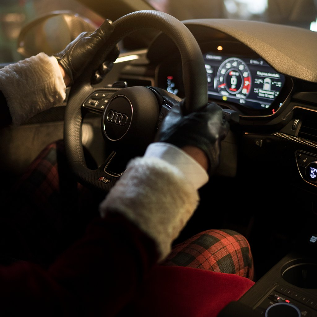 Sleigh, but make it high-tech. #Audi #RS5Sportback