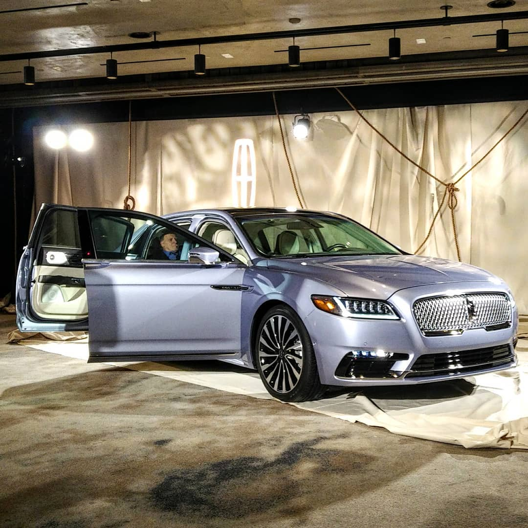 """YES EVERYONE..old """"Hollywood Glamour"""" is back...welcome to the rebirth of true American luxury #launchevent #lincolncontinentalcoachdooredition #lincoln #lincolncontinental #blacklabel #coachdooredition #designstatement #StyleAutos http://www.unnamedproject.com/featured/continental-coach-doors/… @LincolnMotorCo"""