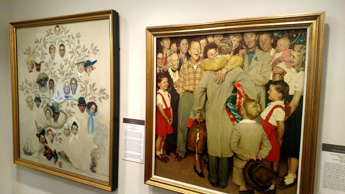 Christmas Homecoming Rockwell.Normanrockwellmuseum On Twitter Tbt Here S A Look Back