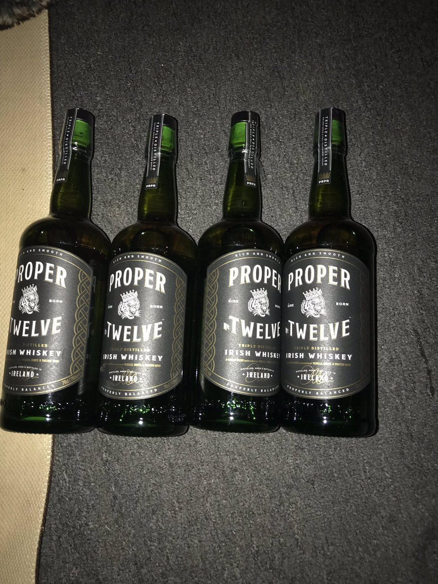 Finally got my hands on these bad boys 🇮🇪 For a proper Christmas 🥃 thanks for the brilliant whiskey! @ProperWhiskey @TheNotoriousMMA