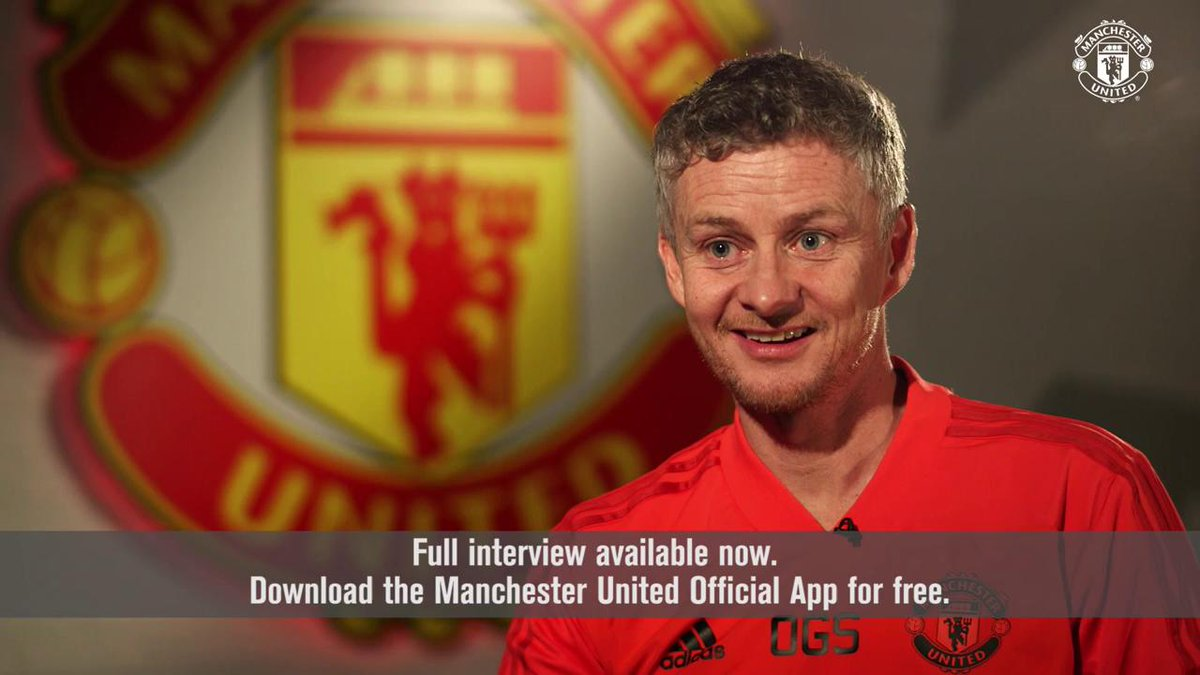 Ole Gunnar Solskjaer: #MUFC caretaker manager 🔴  Watch the rest of Ole's interview in our official app — download now for free: http://bit.ly/2V07NQ7