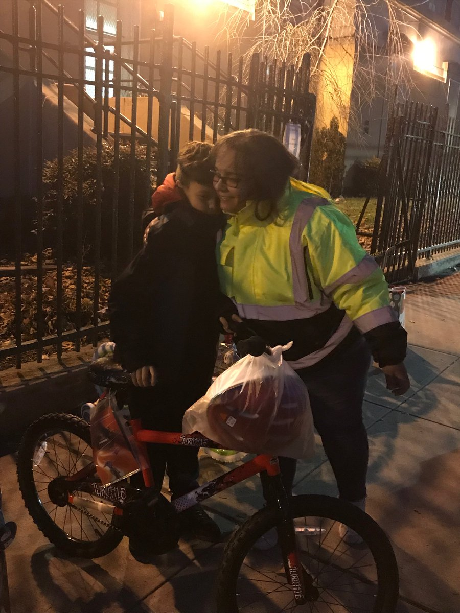 The holidays can be such a difficult time for so many families but last night a former parent of PS68 Melissa Jaime made the holidays a little brighter for some of our students by donated brand new bikes, helmets and warm jackets to some of our students. #ps68q