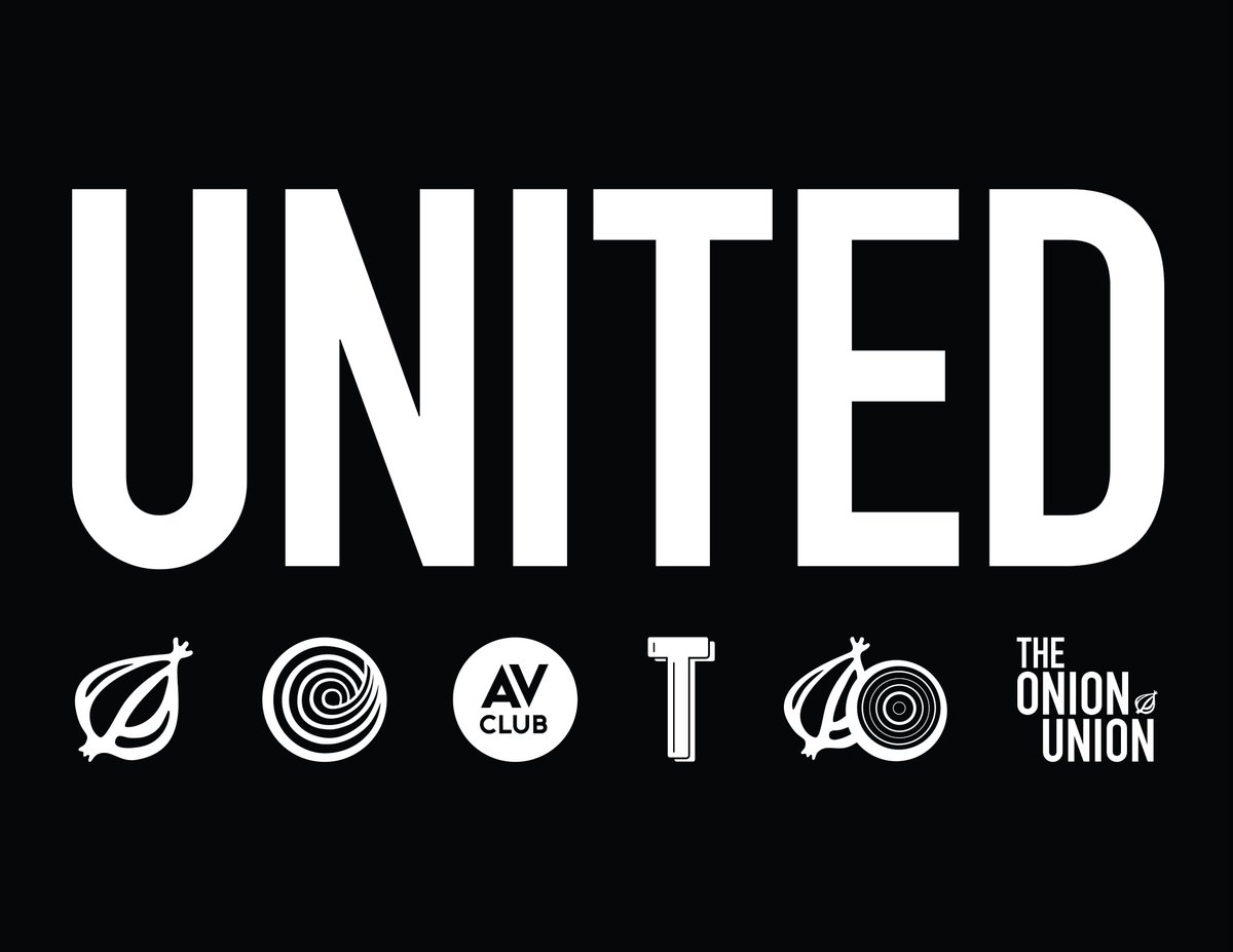 We're proud to announce that the Onion Inc Union has a contract! We voted unanimously to ratify our first contract as a union under @wgaeast. We're incredibly happy. https://t.co/YufzA6KpIk