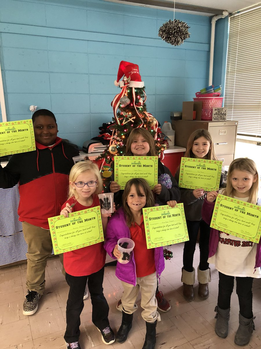 Congratulations to our December students of the month! Keep up the great work students!