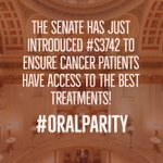 Image for the Tweet beginning: The Cancer Drug Parity Act