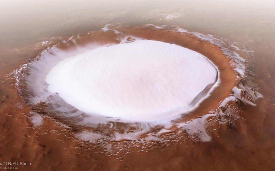 Korolev, el impresionante cráter rebosante de hielo en #Marte https://t.co/5MS1TTPQmi