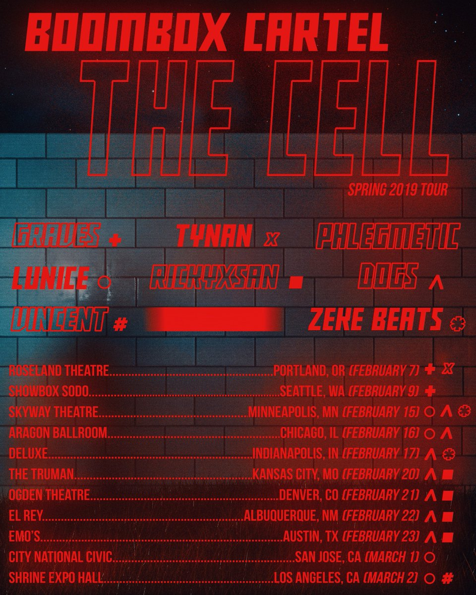 Image result for THE CELL SPRING TOUR BOOMBOX CARTEL