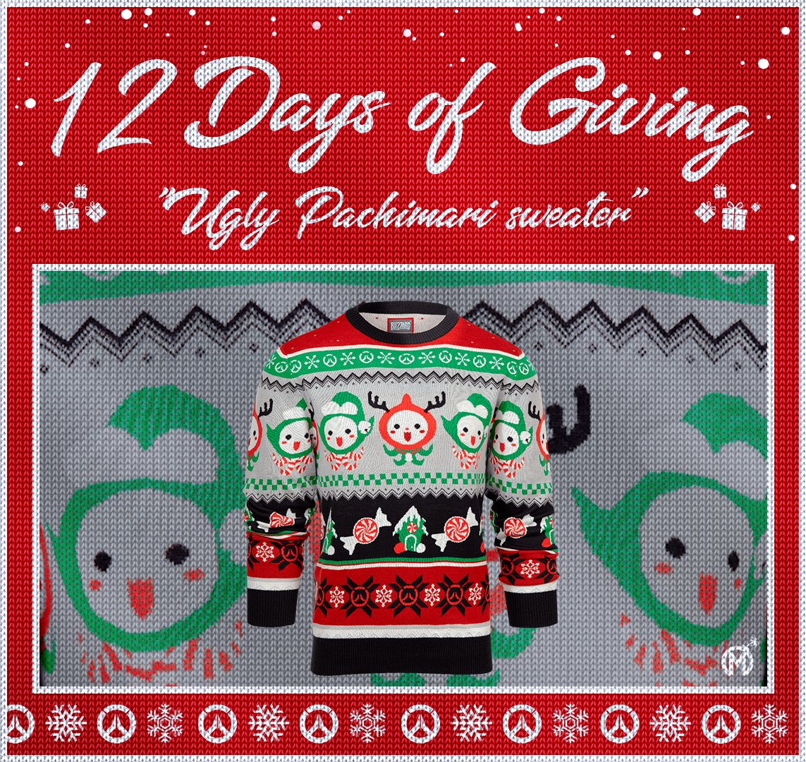 12 Days of Giving! Show up to your holiday parties in style.  Day 8: The Not-So-Ugly Holiday Pachimari Sweater.  🎁 Retweet  🎁 Follow 🎁 Reply with #Pachimari  Daily winners will be notified via DM at 11:59PM PST. 🎄