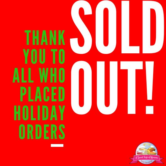 Merry Christmas from our house to yours. Thank you for your Holiday Orders. We have sold out and we will see you all in 2019!  ____ #HappyHolidays #MerryChristmas #HolidayOrders  #SoldOut #ThankYou #ASweetTasteOfHeaven <br>http://pic.twitter.com/M1aSVmMZk2