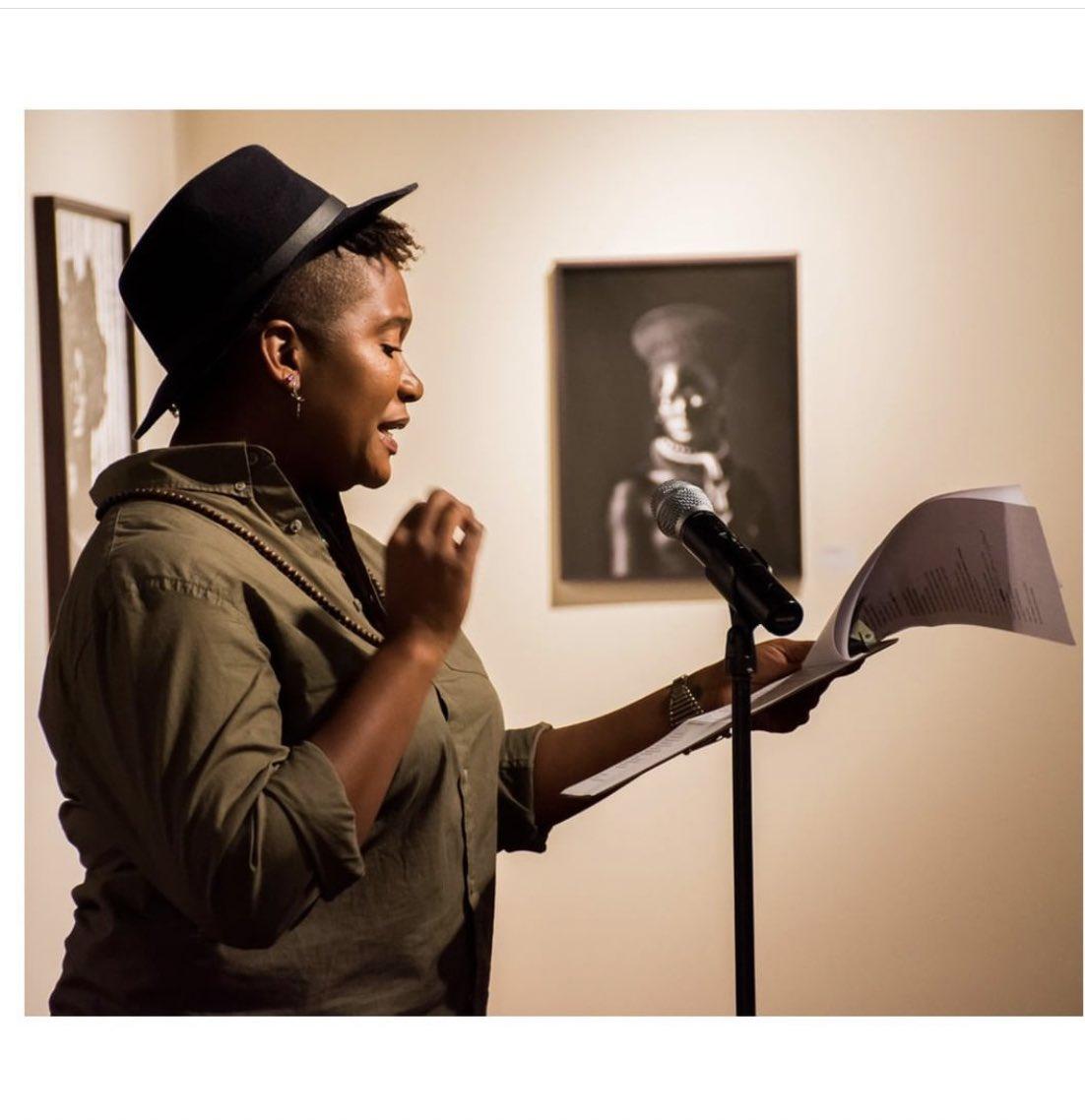 #tbt @autographabp  ・・・ Listen to @lyrispect's original poem The Reclamation - in response to our exhibition Zanele Muholi: Somnyama Ngonyama, Hail the Dark Lioness which debuted at #SpelZanelePRIDE.  Listen at https://t.co/xSyBfDQhe0 https://t.co/FrUDKguVIz