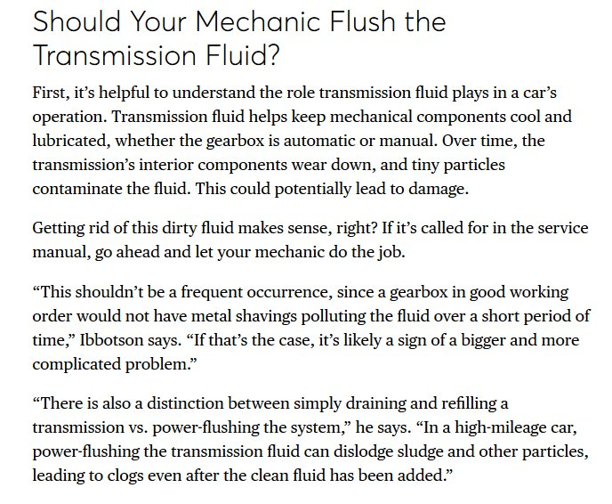 Metal Particles In Transmission Fluid
