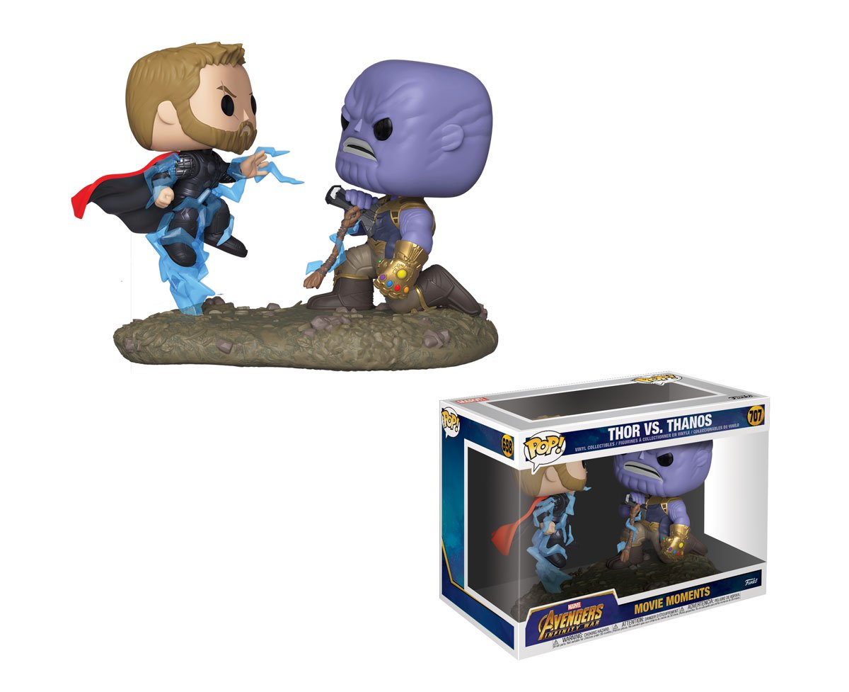 RT & follow @OriginalFunko for a chance to WIN a Thor vs Thanos Marvel Movie Moment. #Avengers #InfinityWar