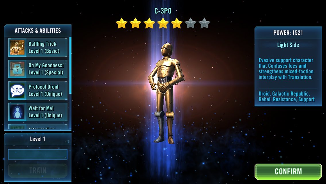 Yes!!!!! Get 7* next time #SWGOH #StarWarsGalaxyofHeroes