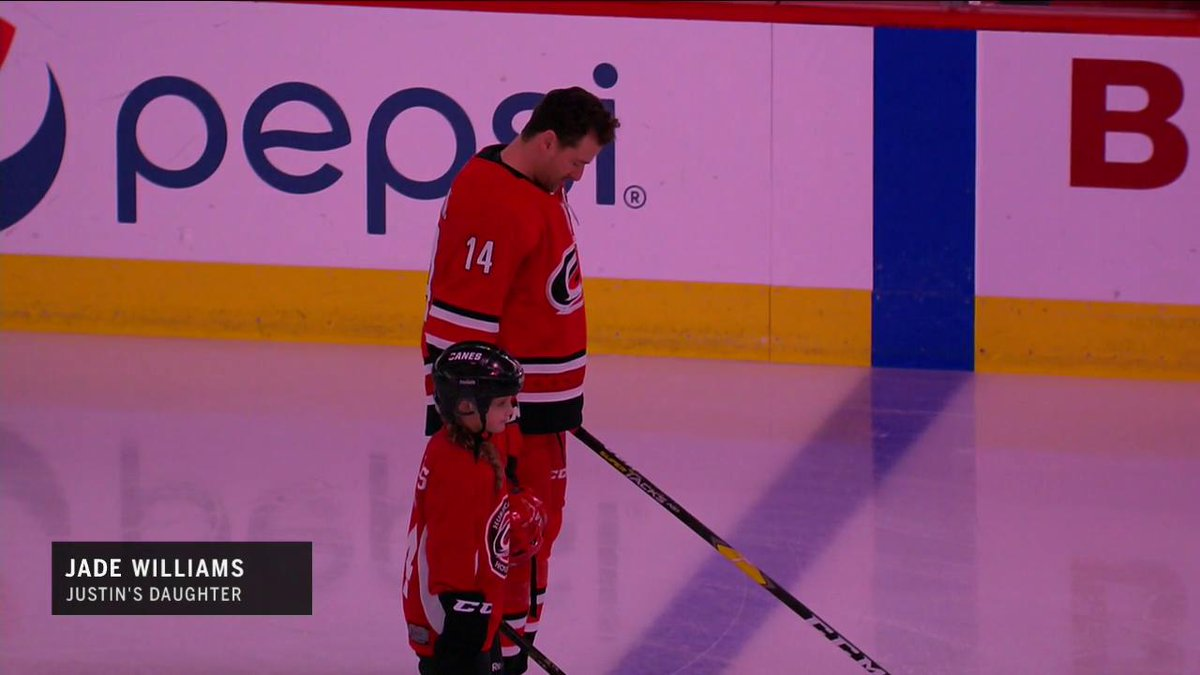 c7b6153b7ba A special moment for Justin Williams and his daughter.  TakeWarning