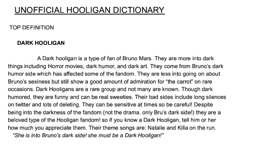Bɾyɳa Nҽrƚyɳҽ On Twitter The Unofficial Hooligan Dictionary Since There Is Not One Yet I Decided To Make One We Are Hooligans Of Brunomars 4 Life Https T Co Vqlgwdrlfc Waddup, it's eliss and i'm back waddup, it's eliss and i'm back with more! twitter
