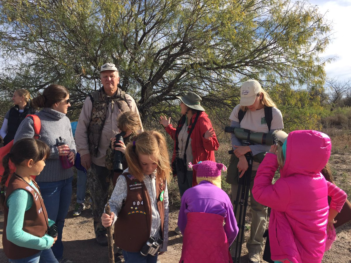 This was with Molly's girl scout troop at Rio Bosque.