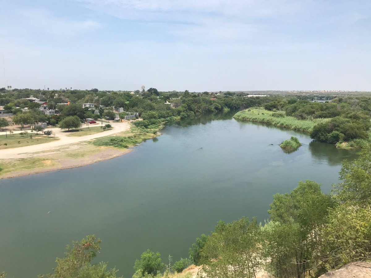 Looking out from Roma, TX across the Rio Grande